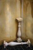Kolommen en muur Royalty-vrije Stock Afbeeldingen