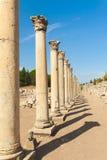 Kolommen in Ephesus stock foto