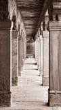Kolommen in Fatehpur Sikri Royalty-vrije Stock Foto's