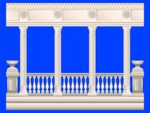 kolommen Gipspleistertraliewerk royalty-vrije illustratie