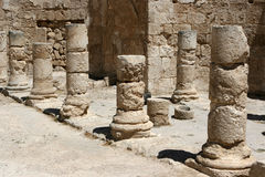 Kolommen in Herodion royalty-vrije stock afbeelding