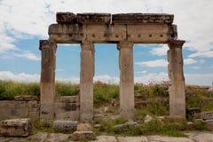 Kolommen in Hierapolis Royalty-vrije Stock Fotografie
