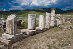 Kolommen in Hierapolis Royalty-vrije Stock Afbeelding