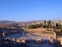 Kolommen ii van Jerash Stock Foto