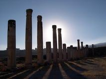 Kolommen iii van Jerash Royalty-vrije Stock Afbeeldingen