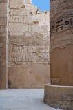 Kolommen in Karnak stock fotografie