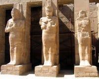 Kolommen met pharaohs Stock Foto