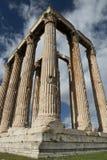 Kolommen in olympieion Athene Stock Foto's