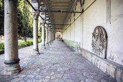 Kolommen op een rij,  Topkapimuseum, Istanboel royalty-vrije stock foto