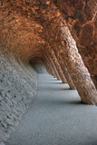 Kolommen in park Guell Royalty-vrije Stock Afbeelding