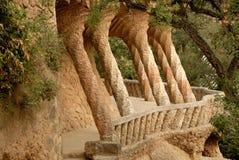 Kolommen in Park Guell, Barcelona Spanje Royalty-vrije Stock Afbeeldingen