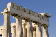 Kolommen in Parthenon royalty-vrije stock afbeelding