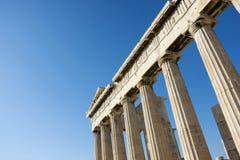Kolommen in Parthenon Royalty-vrije Stock Foto's