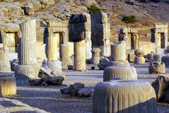 Kolommen in Pasargadae Royalty-vrije Stock Afbeelding