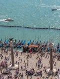 Kolommen in Piazza San Marco in Venetië Stock Foto