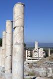 Kolommen in stad Ephesus Stock Fotografie