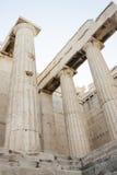 Kolommen in Tempel van Athena Nike Stock Fotografie