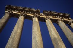 Kolommen, Tempel van Jupiter Royalty-vrije Stock Afbeelding