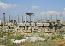 Kolommen van Agora in Perga royalty-vrije stock afbeelding
