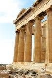 Kolommen van Akropolis Royalty-vrije Stock Foto's