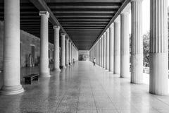 Kolommen van Athene Stock Afbeeldingen