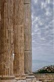 Kolommen van de oude Akropolis Royalty-vrije Stock Foto