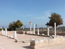 Kolommen van de oude stad in de Krim Stock Fotografie
