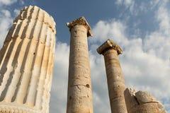 Kolommen van de Tempel van Artemis stock foto's