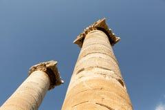 Kolommen van de Tempel van Artemis stock afbeeldingen