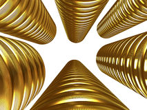 Kolommen van gouden muntstukken stock illustratie