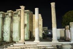 Kolommen van Hadrian Library Royalty-vrije Stock Foto's