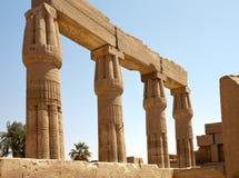 Kolommen van Karnak Tempel, Egypte, Luxor stock afbeelding