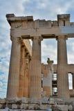 Kolommen van Parthenon, Akropolis royalty-vrije stock afbeeldingen