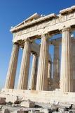 Kolommen van Parthenon in Akropolis van Athene Stock Afbeelding
