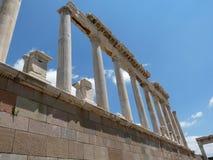 Kolommen van Pergamon, Turkije Royalty-vrije Stock Foto's