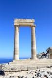 Kolommen van stoa Hellenistic Stock Afbeelding