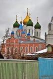 kolomna克里姆林宫俄国 彩色照片 免版税库存照片