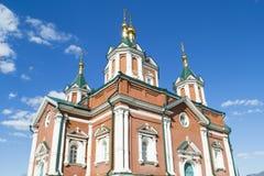 Kolomna克里姆林宫和太阳强光的一个教会 库存照片