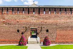 Kolomna克里姆林宫,俄罗斯的墙壁 库存图片