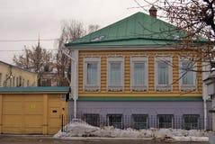 Kolomna,俄罗斯木建筑学  彩色照片 库存照片