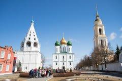 Kolomna,俄罗斯- 2018年4月11日:假定大教堂和是 免版税图库摄影