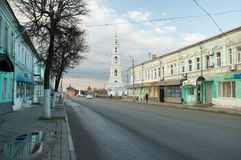 Kolomna,俄罗斯- 2017年10月21日:K城市的历史部分 免版税库存图片