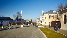 Kolomna,俄罗斯- 2017年11月04日:Kolomna的全视图 免版税库存图片