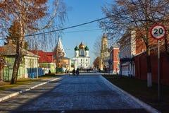 Kolomna,俄罗斯- 2017年11月04日:Kolomna的全视图 库存照片