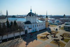 Kolomna,大教堂广场 免版税库存图片