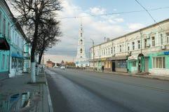Kolomna, Россия - 21-ое октября 2017: Историческая часть города k Стоковое Изображение RF