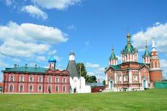 Kolomna, Brusensky monaster w lecie Rosja Zdjęcie Royalty Free