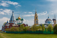 Kolomna Kremlin. Inside the Kremlin, Tikhvin Cathedral, Uspensky Cathedral, Novo-Golutvin monastery Stock Photography