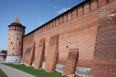 Kolomna Kremlin in Moscow region. Kremlin Wall Stock Images