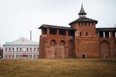 Kolomna Kremlin, prawdziwy wielki forteca zdjęcie royalty free